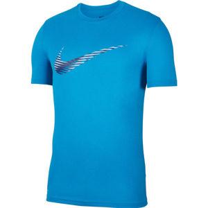 Nike DRY LEG TEE SNSL COM SWSH M modrá S - Pánské tréninkové tričko