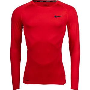 Nike NP TOP LS TIGHT M zelená S - Pánské tričko s dlouhým rukávem