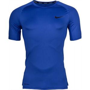 Nike NP TOP SS TIGHT M zelená M - Pánské tričko