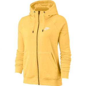 Nike NSW ESSNTL HOODIE FZ FLC W žlutá XS - Dámská mikina