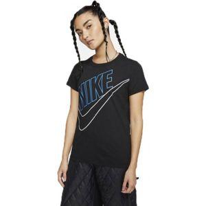Nike NSW TEE PREP FUTURA W černá S - Dámské tričko