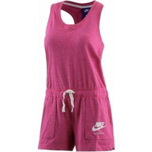 Nike W NSW GYM VNTG RMPR fialová L - Dámský overal