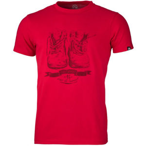 Northfinder KRISTJANO červená XL - Pánské triko
