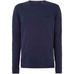 O'Neill LM ESSENTIALS L/SLV T-SHIRT tmavě modrá M - Pánské tričko s dlouhým rukávem