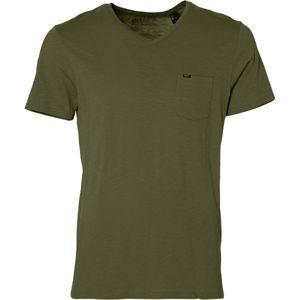 O'Neill LM JACK'S BASE V-NECK T-SHIRT tmavě zelená XXL - Pánské tričko