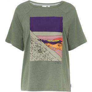 O'Neill LW AZURE T-SHIRT tmavě zelená S - Dámské tričko