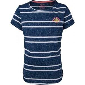O'Neill LG STRIPEY SURF S/SLV T-SHIRT tmavě modrá 128 - Dívčí tričko