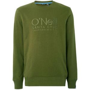 O'Neill LM ONEILL LOGO CREW SWEAT tmavě zelená XXL - Pánská mikina