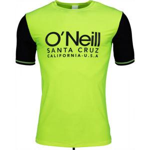 O'Neill PM CALI S/SLV SKINS zelená XS - Pánské tričko do vody