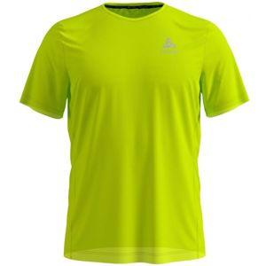 Odlo MEN'S T-SHIRT S/S ELEMENT LIGHT PRINT zelená L - Pánské tričko s krátkým rukávem
