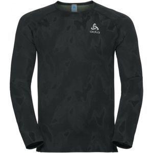 Odlo MEN'S T-SHIRT L/S CREW NECK VIGOR černá M - Pánské funkční tričko