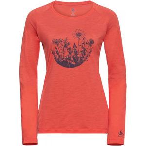 Odlo WOMEN'S T-SHIRT CREW NECK L/S CONCORD oranžová S - Dámské tričko
