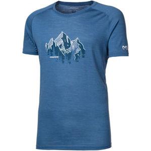 Progress TASMAN modrá L - Pánské triko z merino vlny