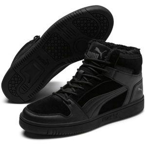Puma REBOUND LAYUP SD FUR černá 7.5 - Pánská volnočasová obuv