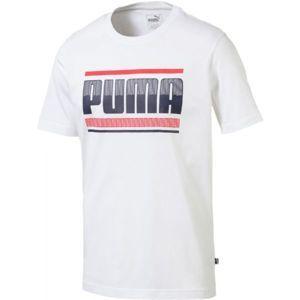 Puma GRAPHIC bílá L - Pánské triko