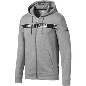 Puma AMPLIFIED HOODED JACKET šedá XL - Pánská mikina