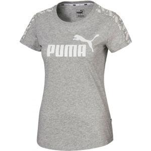 Puma AMPLIFIED TEE šedá XL - Dámské sportovní triko
