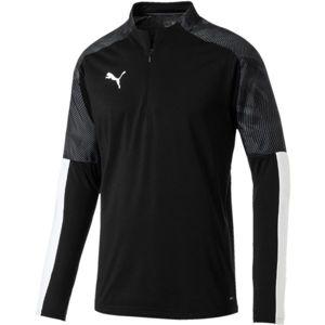 Puma CUP TRAINING 1 4 ZIP TOP černá L - Pánské sportovní triko