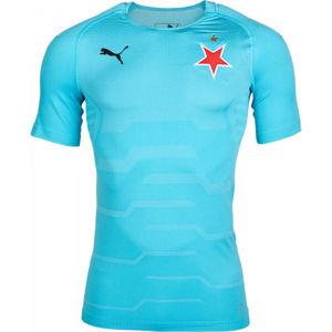 Puma SLAVIA FINAL EVOKNIT GK modrá M - Pánské brankářské triko