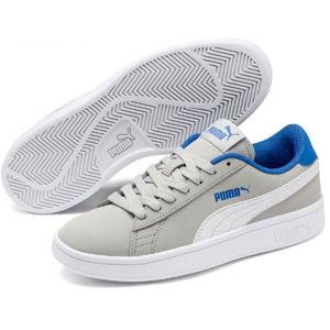 Puma SMASH V2 BUCK JR šedá 3 - Chlapecké volnočasové boty