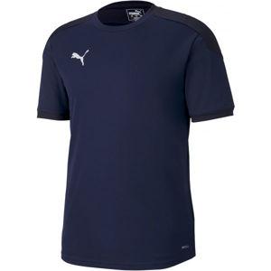 Puma TEAM FINAL 21 TRAINING JERSEY tmavě modrá XXL - Pánské triko