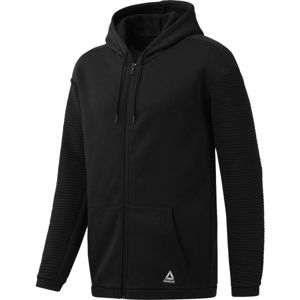 Reebok WORKOUT READY FLEECE FULL ZIP HOODIE - Pánská mikina