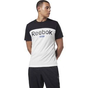 Reebok TE BL SS TEE černá L - Pánské tričko