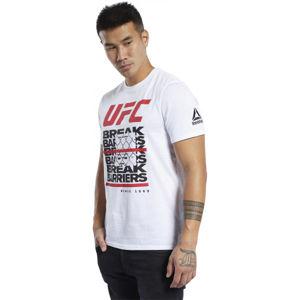 Reebok UFC FG CAPSULE T bílá L - Pánské triko