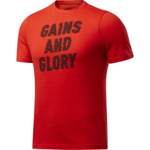 Reebok GS OPP TEE GRAPHIC červená S - Pánské tričko