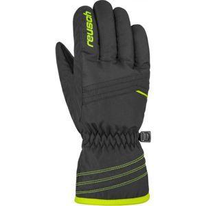 Reusch ALAN JR žlutá 4.5 - Dětské lyžařské rukavice