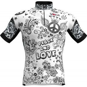 Rosti PEACE AND LOVE bílá 5xl - Pánský cyklistický dres