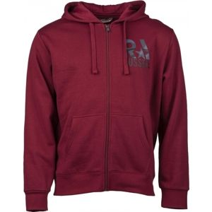 Russell Athletic ZIP THROUGH HOODY SWEAT WITH  RA GRAPHIC PRINT - Pánská mikina