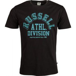 Russell Athletic ATHL.DIVISION S/S CREWNECK TEE SHIRT tmavě modrá M - Pánské tričko