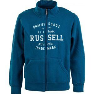 Russell Athletic CHLAPECKÁ MIKINA modrá 116 - Moderní chlapecká mikina