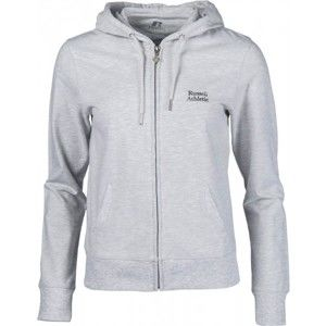 Russell Athletic ZIP THROUGH HOODY WITH SILVER PRINT - Dámská mikina