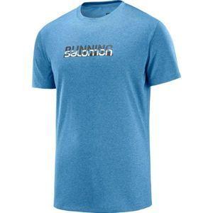Salomon AGILE GRAPHIC TEE M modrá XL - Pánské běžecké tričko