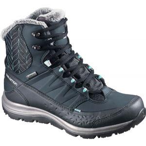 Salomon KAINA MID GTX tmavě modrá 6.5 - Dámská zimní obuv