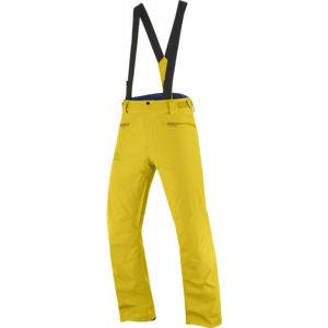 Salomon STANCE PANT M žlutá L - Pánské lyžařské kalhoty