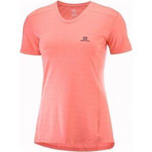 Salomon XA TEE W růžová XL - Dámské běžecké tričko
