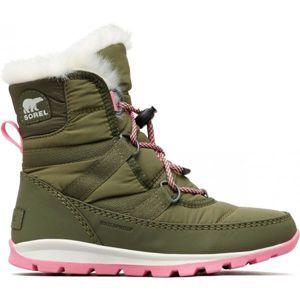 Sorel YOUTH WHITNEY  SHORT tmavě zelená 2 - Dětská zimní obuv