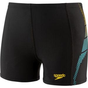 Speedo PLASTISOL PLACEMENT AQUASHORT černá 128 - Chlapecké plavky s nohavičkou