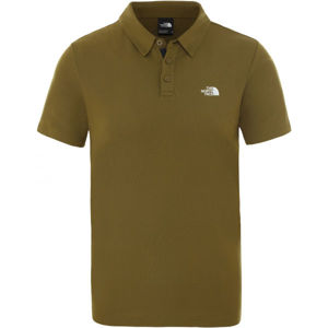 The North Face TANKEN POLO hnědá L - Polokošile