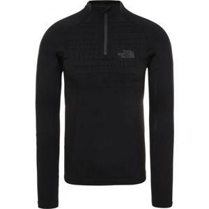 The North Face SPORT L/S ZIP NECK černá S/M - Pánské tričko