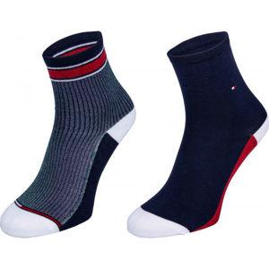 Tommy Hilfiger WOMEN SHORT SOCK 2P TRANSLUCENT černá 39-41 - Dámské ponožky