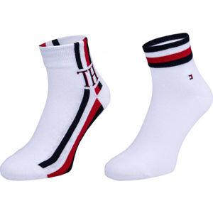 Tommy Hilfiger MEN QUARTER 2P ICONIC STRIPE bílá 39-42 - Pánské ponožky