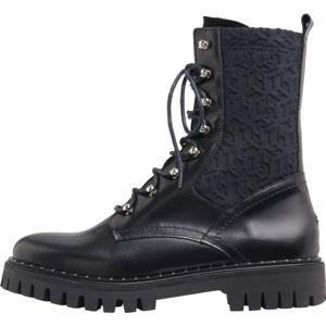 Tommy Hilfiger MATERIAL MIX TH BOOTIE  39 - Dámské kožené boty