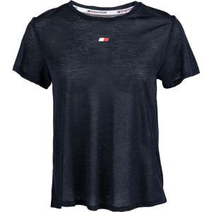 Tommy Hilfiger PERFORMANCE LBR TOP tmavě modrá S - Dámské tričko