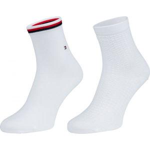 Tommy Hilfiger WOMEN SHORT SOCK 2P WAFFLE  39/42 - Dámské ponožky
