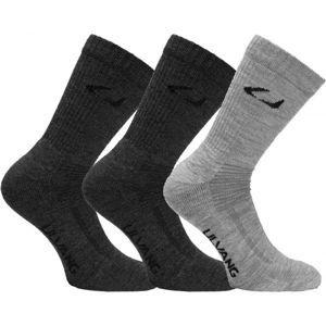 Ulvang ALLROUND 3PCK šedá 40/45 - Vlněné ponožky