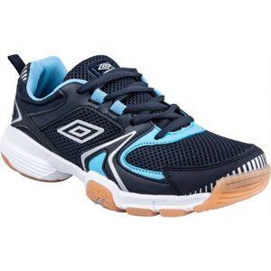 Umbro LOCKTON modrá 6Y - Dětská sálová obuv